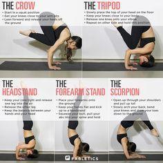 baby steps // yoga // crow // tripod // headstand