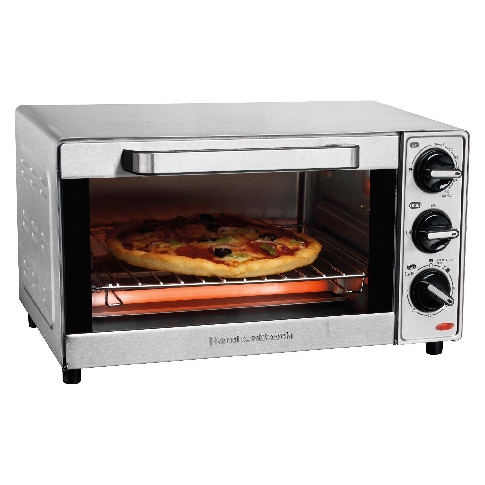 Hamilton Beach 4 Slice Toaster Oven Stainless Steel 31401 Toaster Oven Hamilton Beach Toaster Oven Cooking Appliances