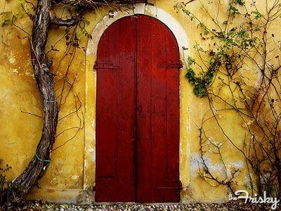 Why You Should Paint Your Door Red | Doors, Front doors and Gates