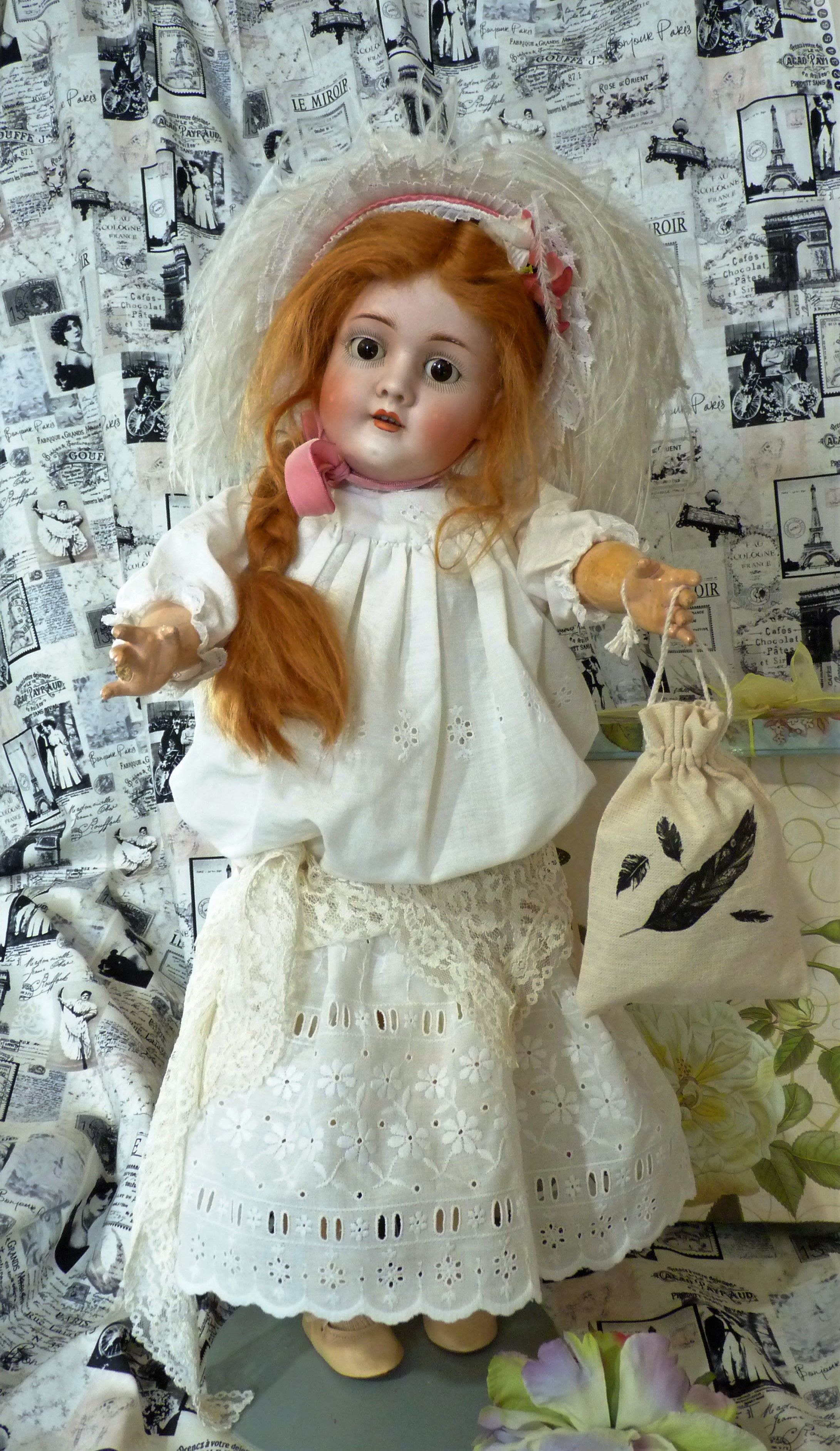 Antique German Kley & Hahn Walkure Doll, Head Made By Kestner