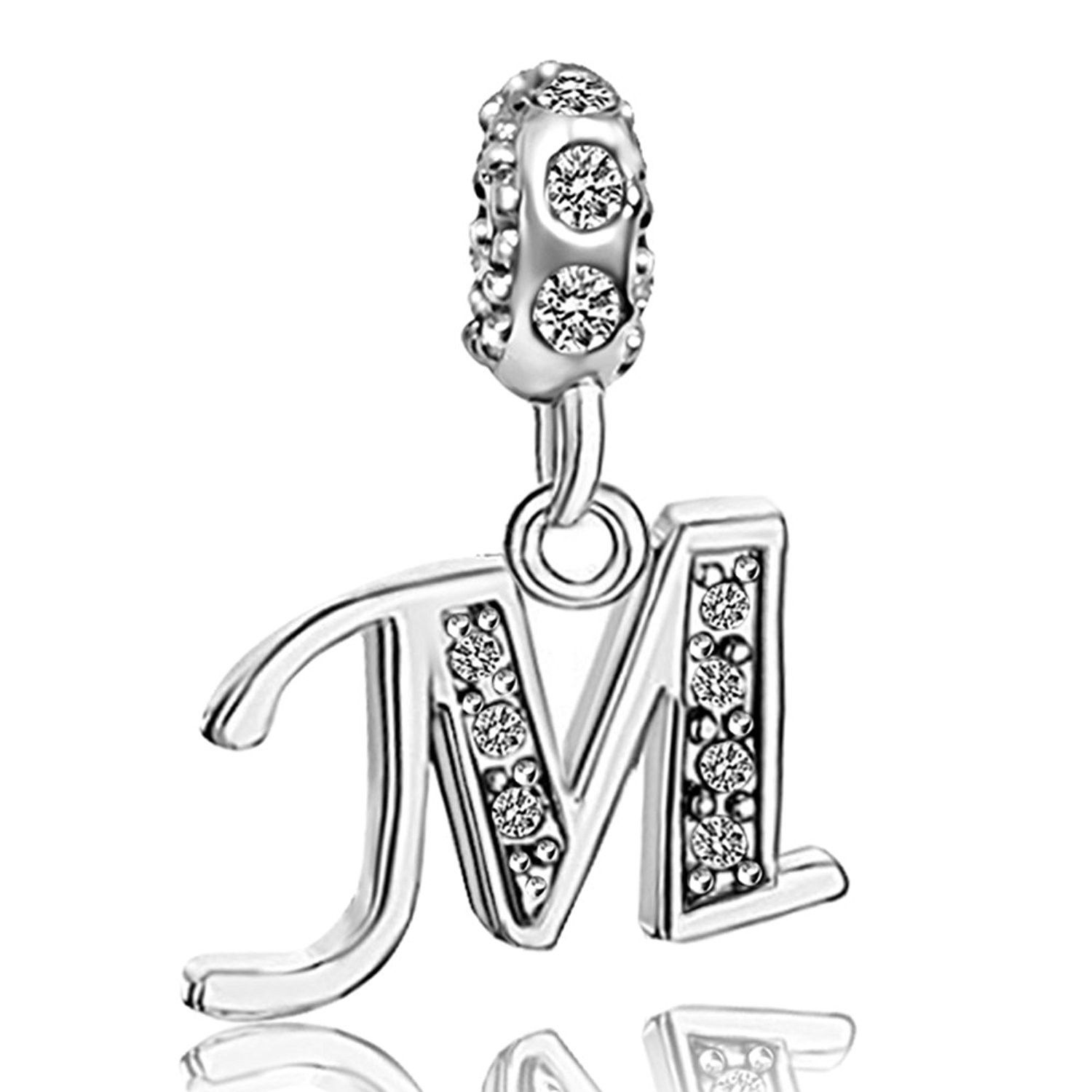 Letter Initial A Z Alphabet Beads Dangle Crystal Charms For Bracelets C7182t2le5q Pandora Jewelry Charms Bracelet Christmas Gift Christmas Bracelet