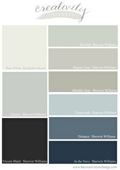 20 of the 2016 Bestselling Sherwin Williams Paint Colors.  Examples of rooms painted in the colors.