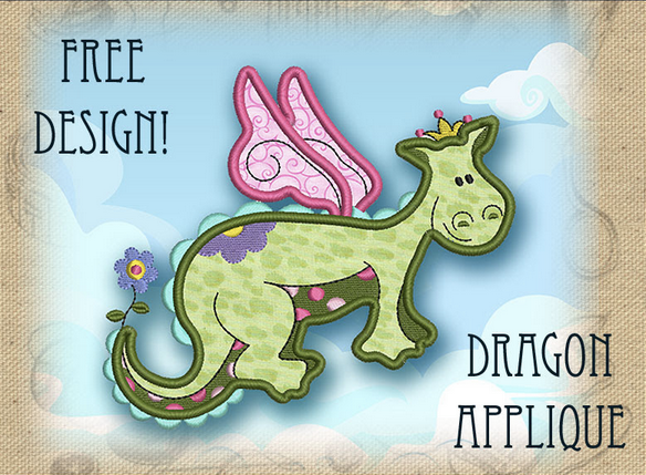 Cute little dragon - great for kid's rooms! | free embroidery