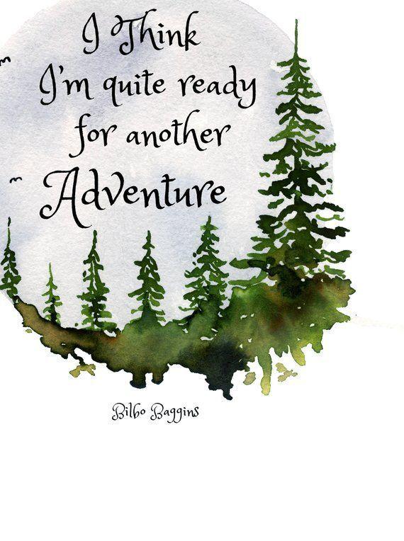 JRR Tolkien, Adventure Quote, LOTR Wall Art, LOTR Quote, Lord of the Rings Wall Quote, Tolkien Quote, Hobbit quote