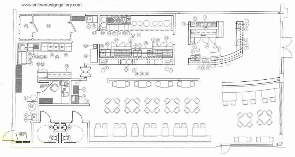 Restaurant floor plans ideas google search new for Blueprints of restaurant kitchen designs