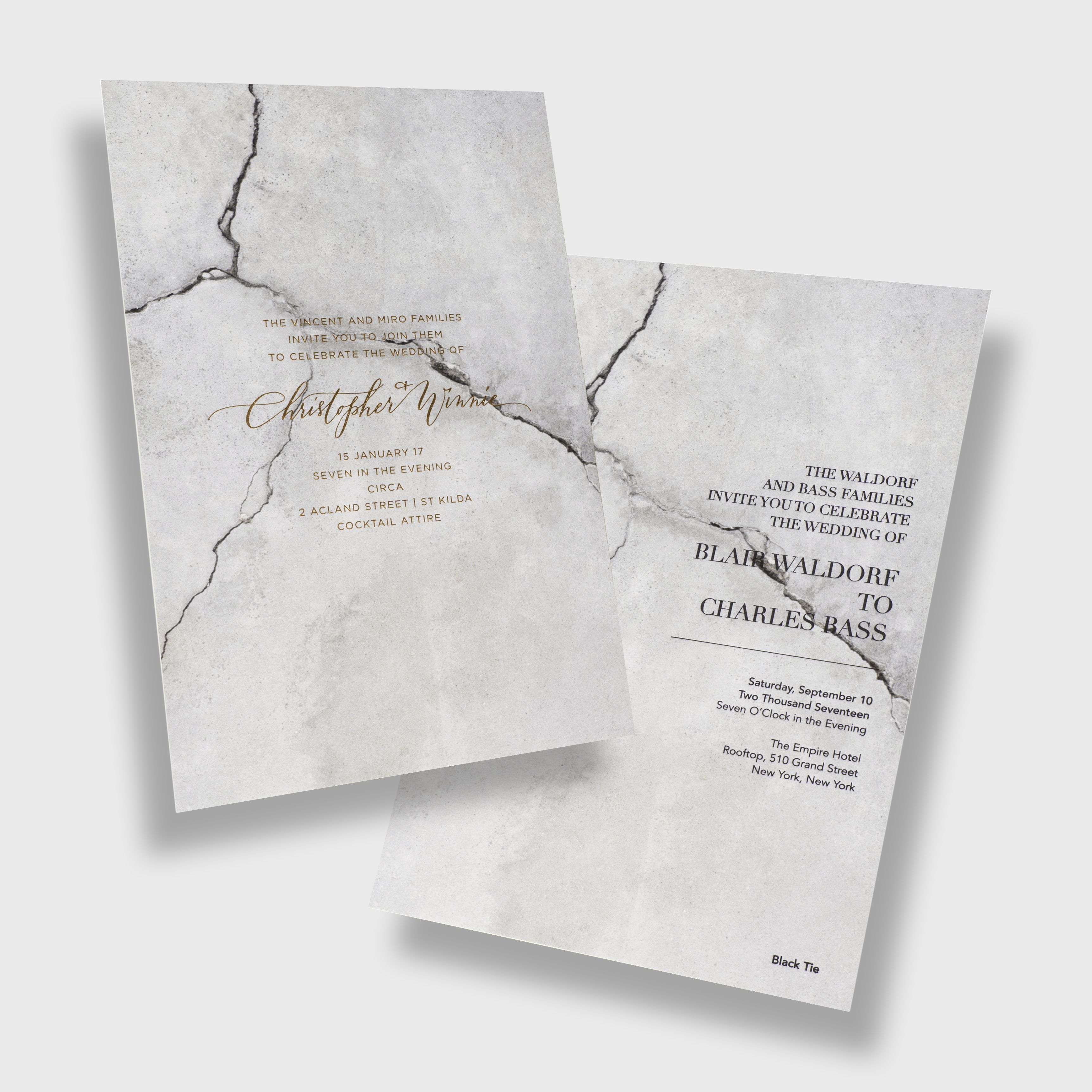 Bliss & Bone x The Lane / Design Your Own Wedding Invitation or Save ...