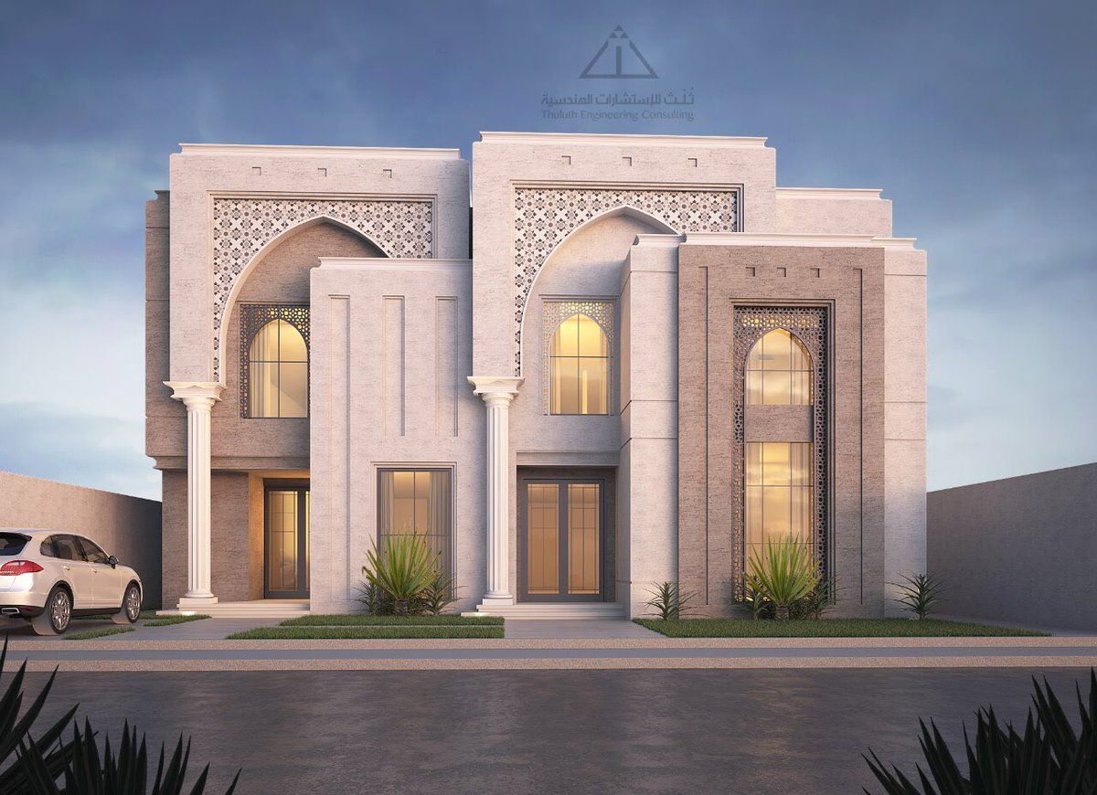 Pin By Ahmed Alghunim On واجهات مباني Facade House Modern House Facades Classic House Design