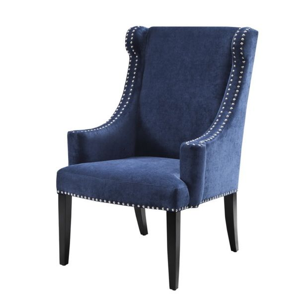 28x30x42H, Big Chairs, Weight Limit 250lbs. Madison Park Lucy High Back  Wing Chair · Blue Accent ...