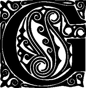 Fancy Letter C | Decorative Alphabet Letter G clip art - vector ...