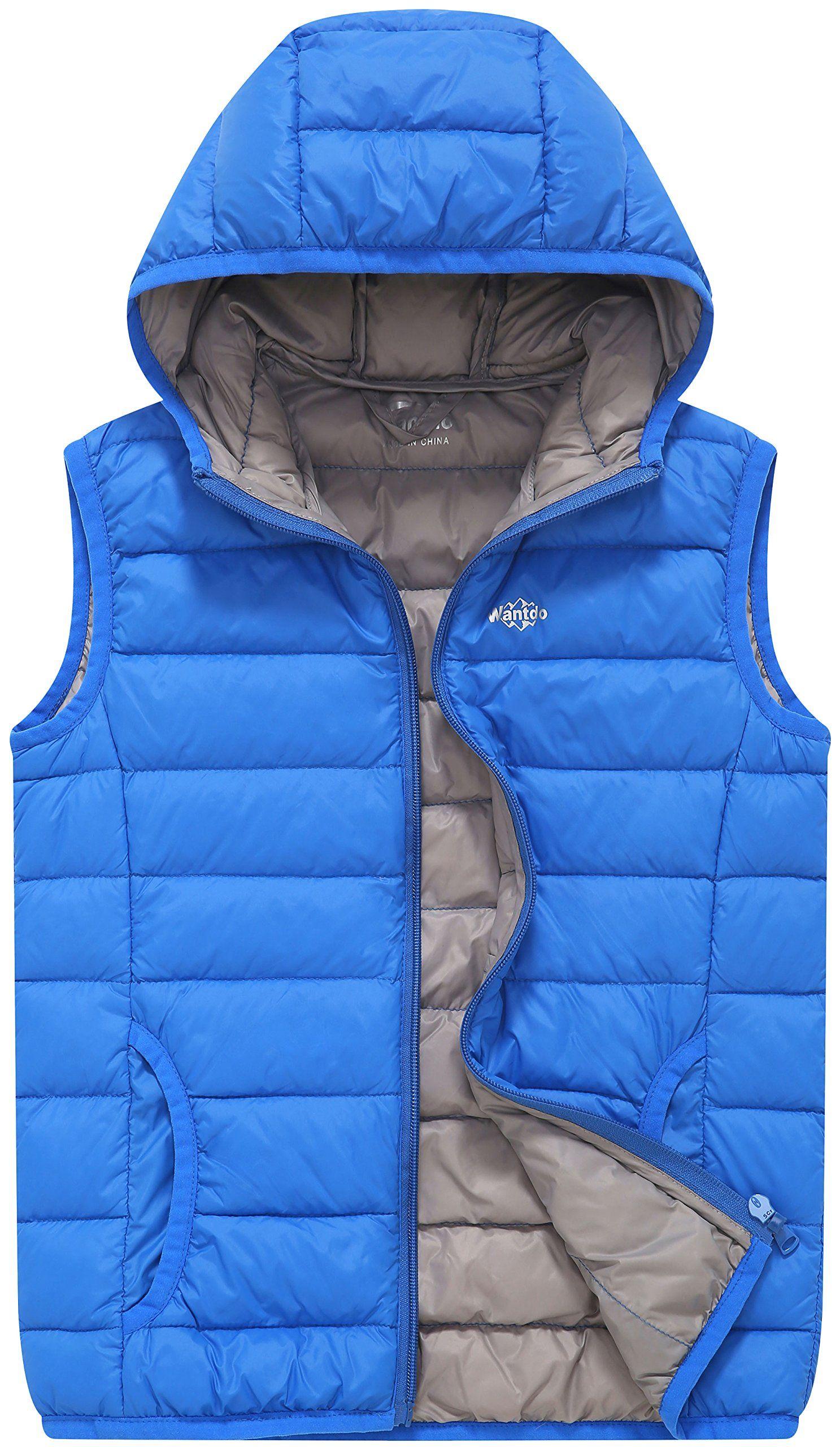 23bfa6fc308e Wantdo Boys Ultra Light Down Gilet With Hood Winter Jacket ...