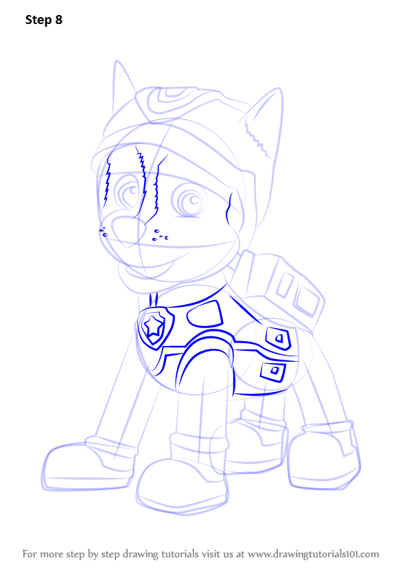 Learn How To Draw Super Spy Chase From Paw Patrol Paw Patrol Step By Step Drawing Tutorials In 2021 Paw Patrol Drawings Paw