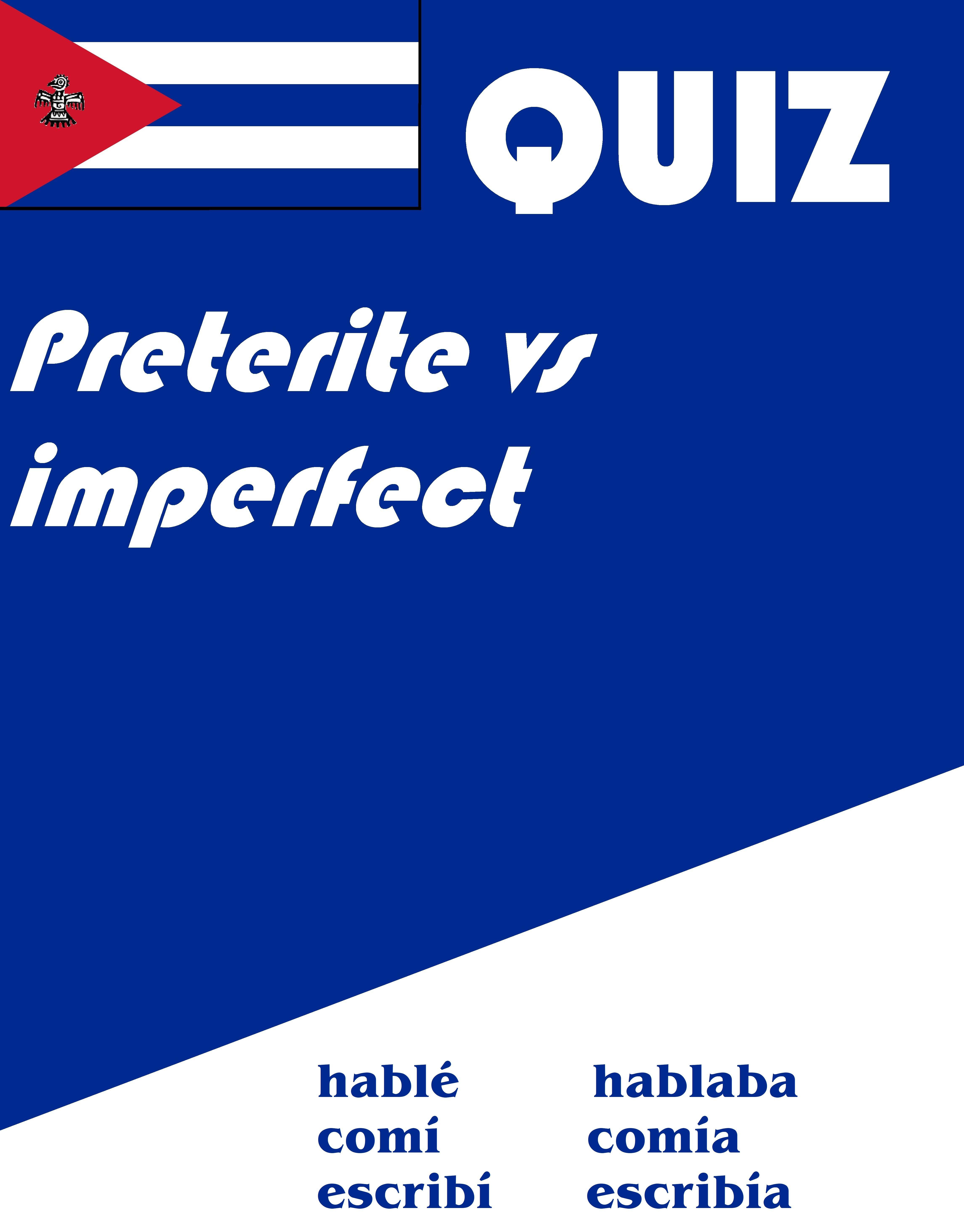 Spanish Preterite Vs Imperfect Quiz Or Worksheet Distance