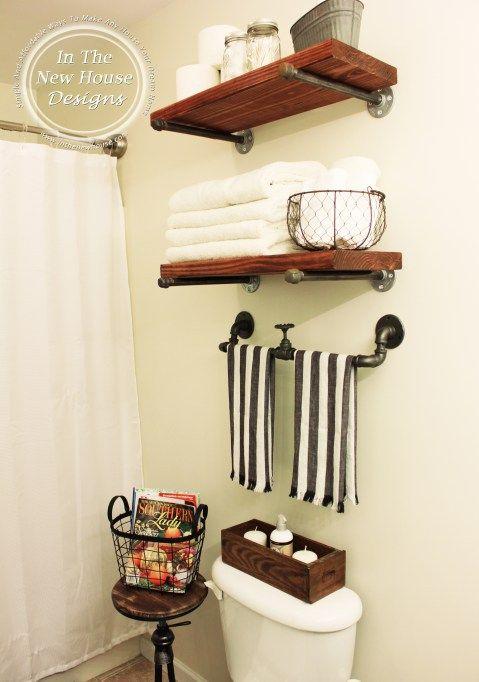 Photo of Industrial Farmhouse Bathroom Reveal – Organized-ish by Lela Burris
