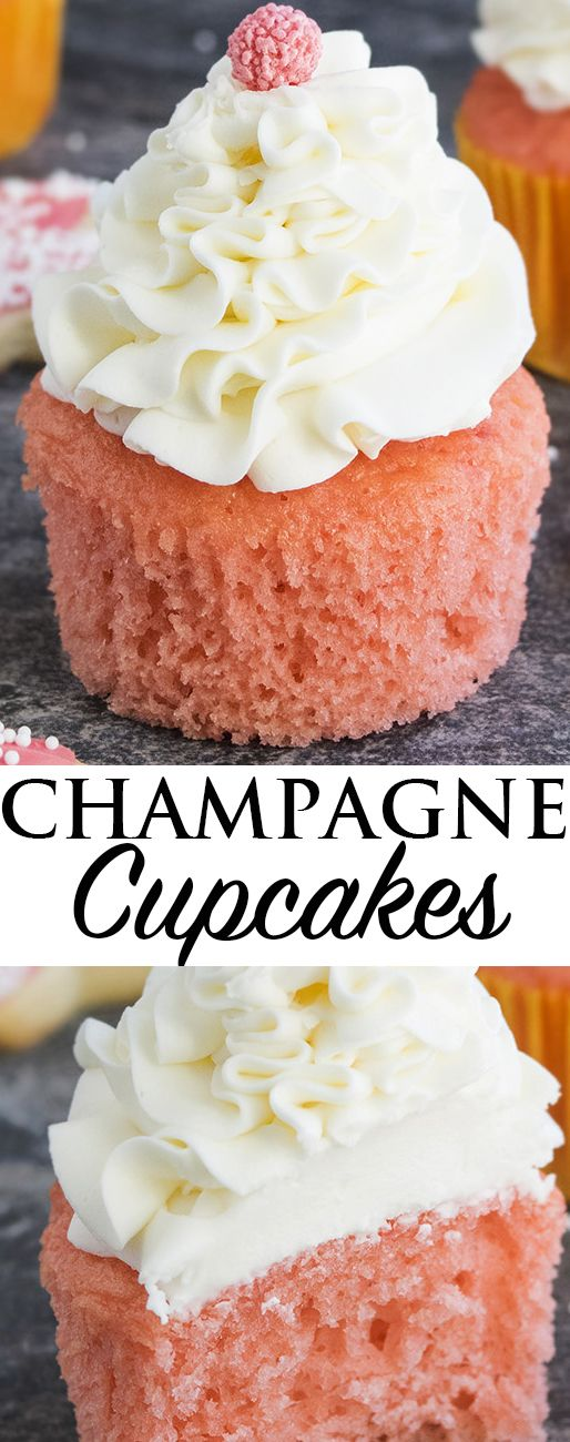 cupcake recipes for bridal shower%0A This easy champagne cupcake recipe with champagne frosting is a New Year u    s  Eve dessert you won u    t want to miss    The First Year Recipes   Pinterest