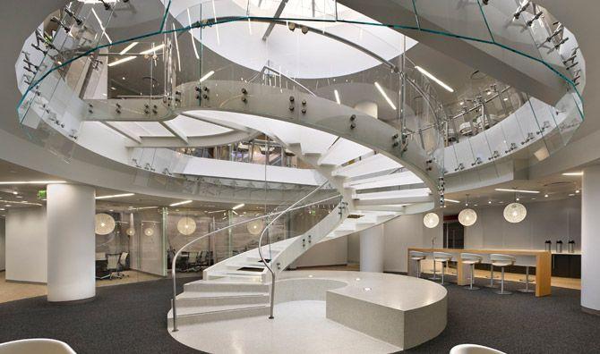 Curved Stairs Design | ... Curved Stair Design : Amazing Elegant Stair Design Luxury Look #stairway #homestairy