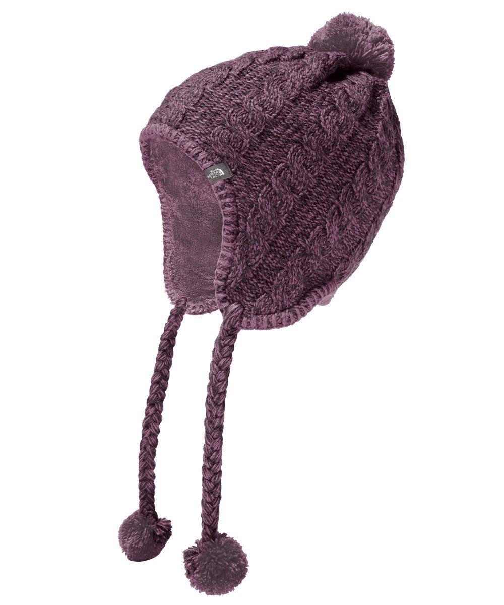 43510e682eb The North Face Women s Fuzzy Earflap Beanie - black plum purple agate