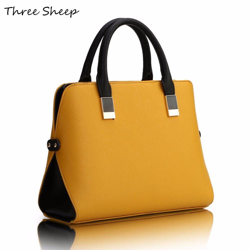 Yellow Womens Hand Bags Designers Pu Famous Designer Handbags Luxury Leather Blue Black Handbag Women Elegant
