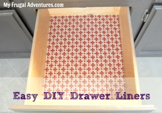 Diy Shelf And Drawer Liners My Frugal Adventures Shelf Liner Diy Drawer Liner Kitchen Shelf Liner
