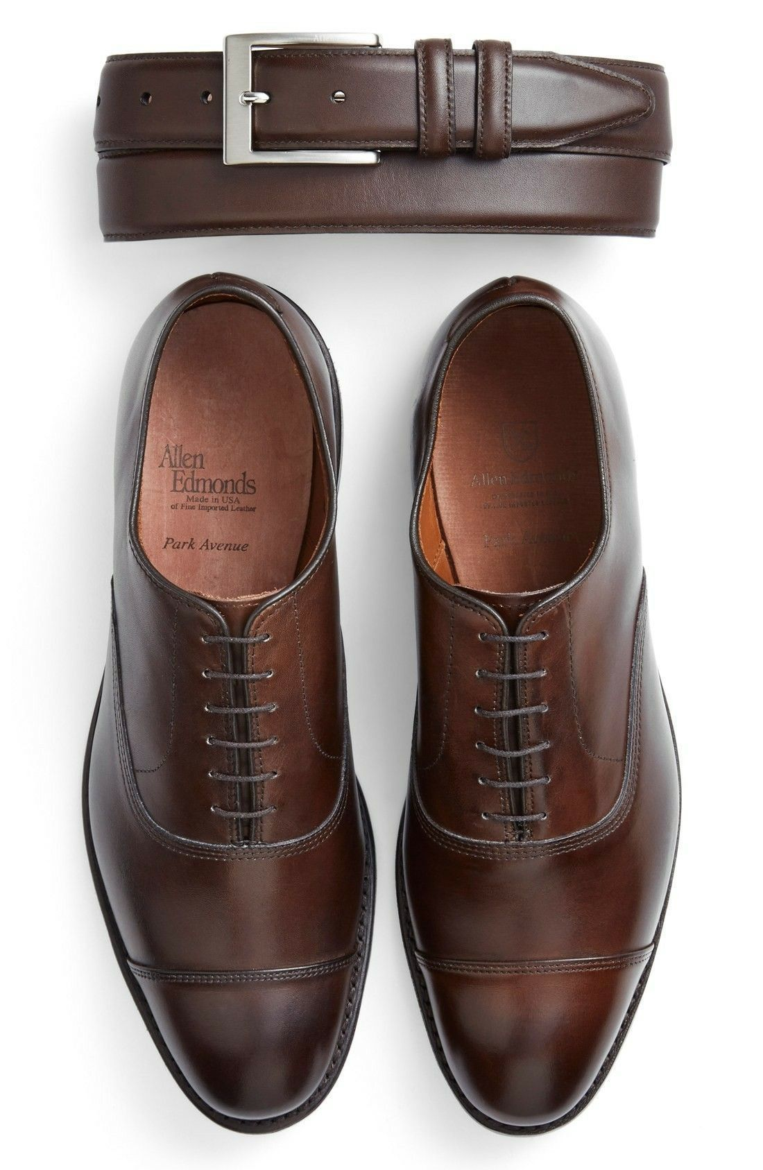 9b59bba3e1a9 Allen Edmonds Park Avenue Oxford in Dark Brown Burnished Leather ...