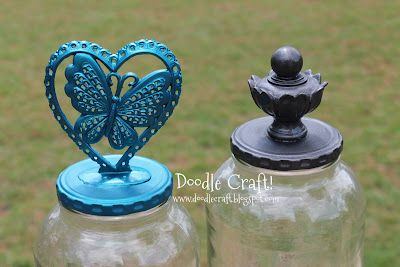 Doodle Craft...: Upcycled Pickle Jar and Cake Stand updo!
