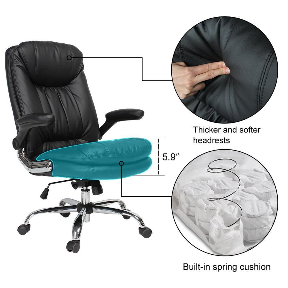Seatingplus Comfortable Executive Office Chair Backrest Leather