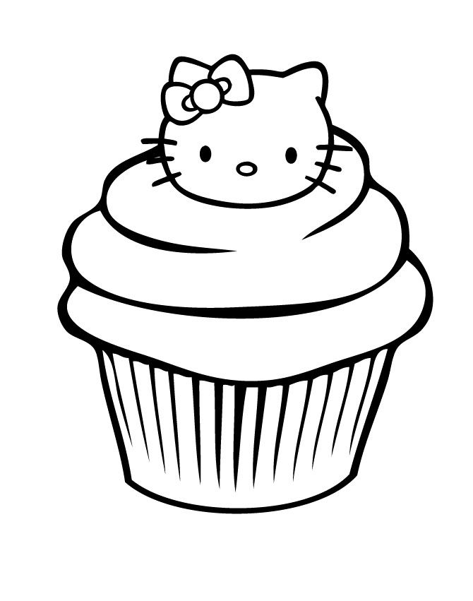 A Delicious Cupcake Coloring Pages - Cookie Coloring Pages : Girls ...