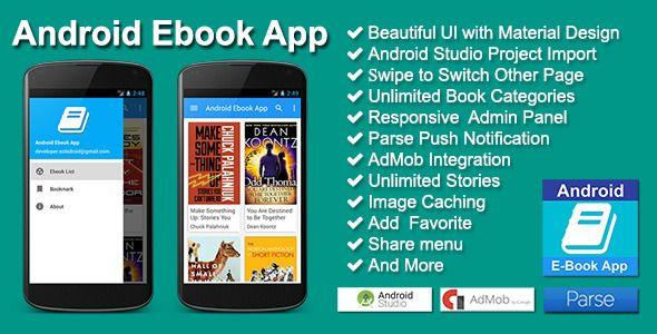 Android Ebook App | Code Script | Android, App ui design, App