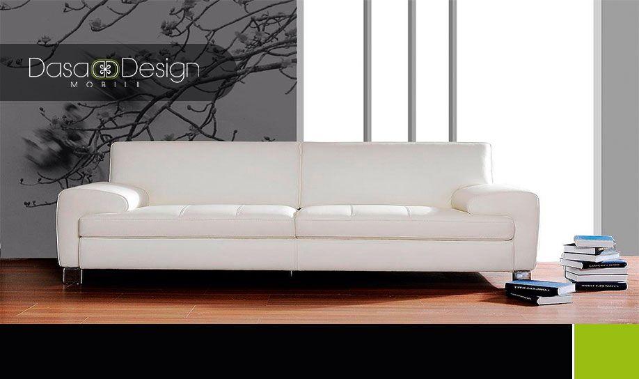 Sofa Blanco Para El Hogar, La Oficina O Una Sala De Espera. Dasa Design