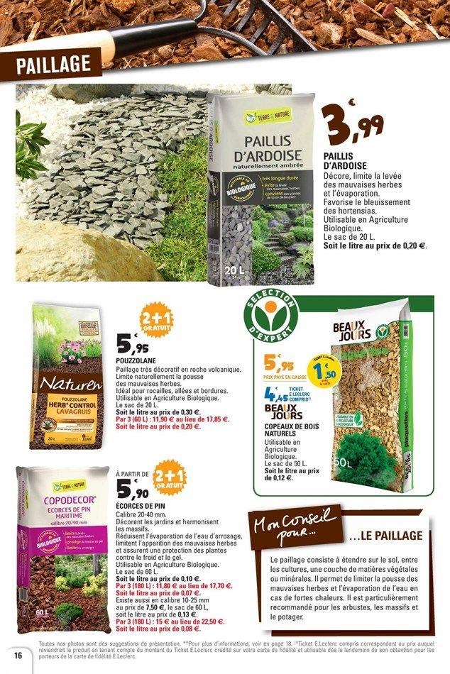 Catalogue Et Promotions De E Leclerc Jardi Paillis Ardoise Mauvaises Herbes Agriculture Biologique