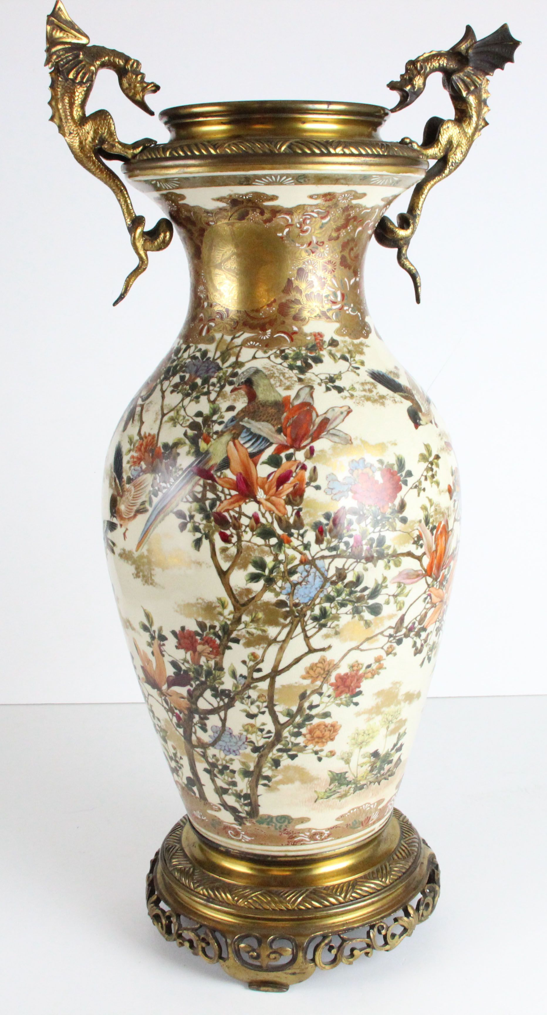 Lot 223 a large late 19thc japanese satsuma vase mounted in lot 223 a large late 19thc japanese satsuma vase mounted in europe as a lamp reviewsmspy