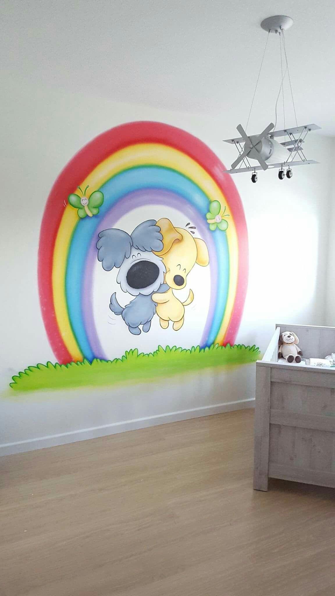 Woezel en Pip muurschildering - Muurschildering | Pinterest ...