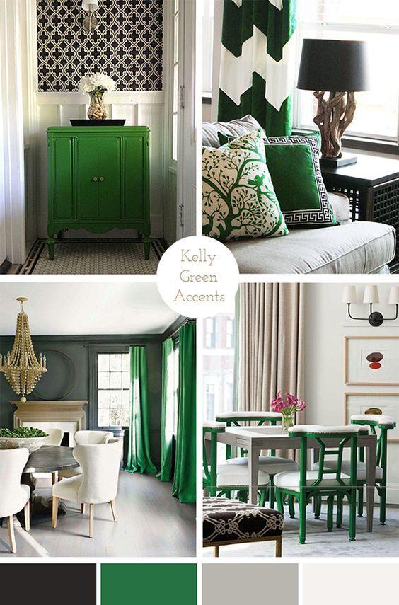 Kelly Green Accents Living Room Green Bedroom Green Living Room Grey