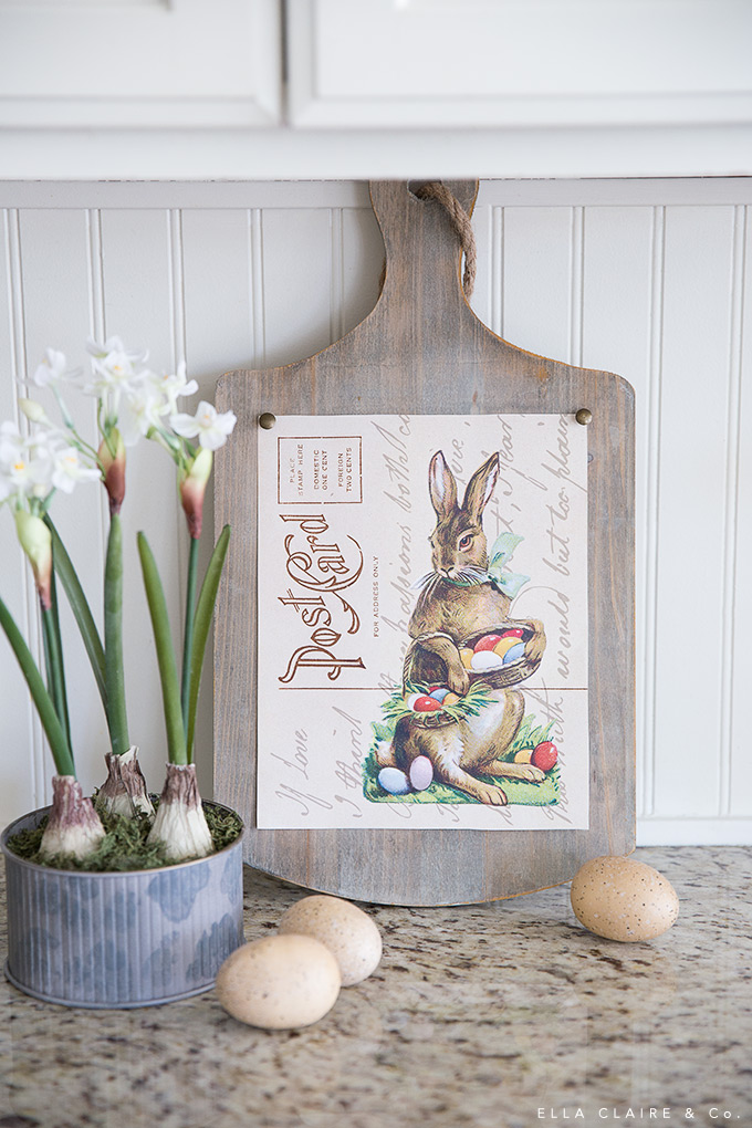 Free Printable Easter Bunny Postcard Art In 2020 Easter