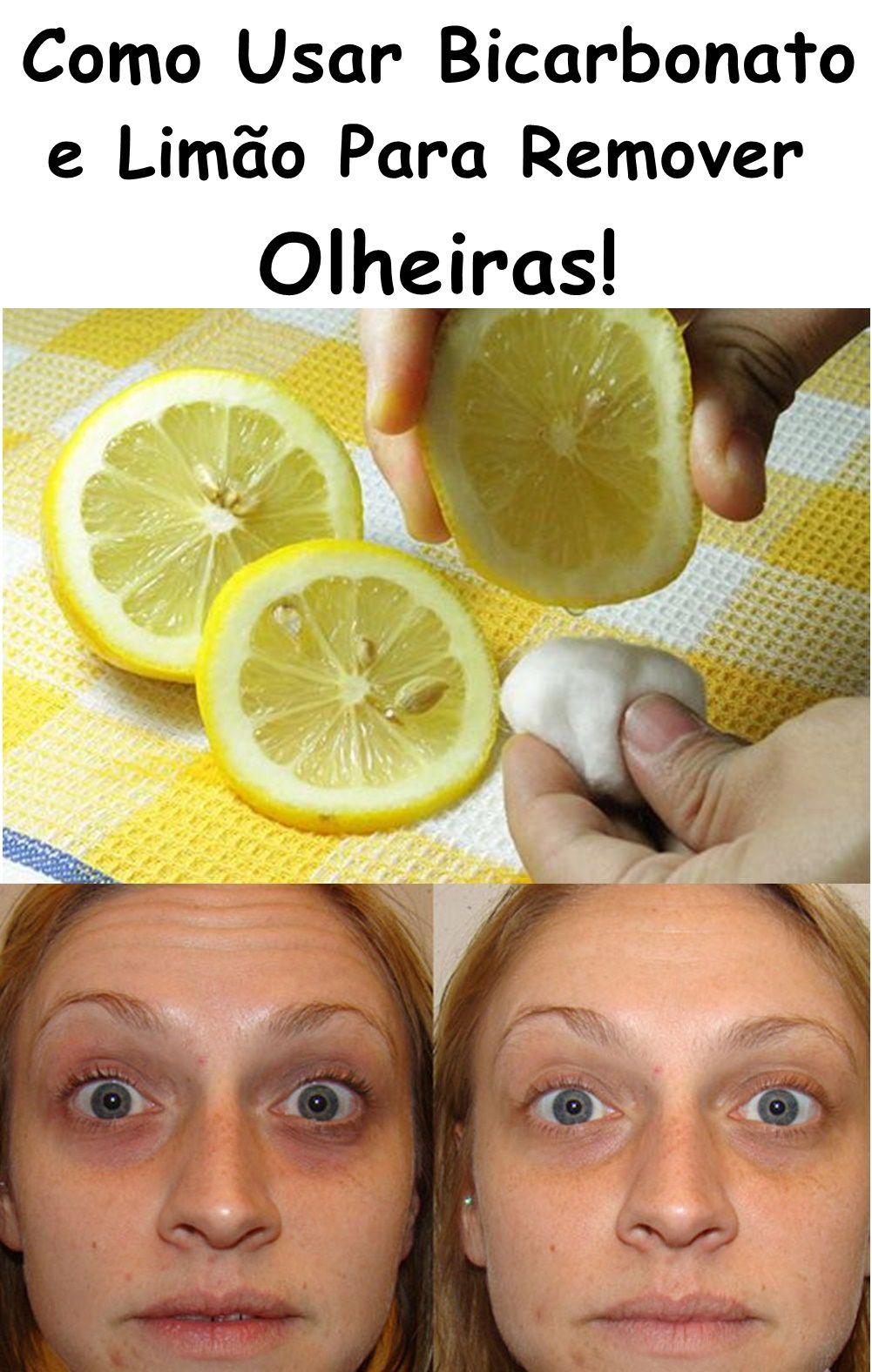 Como Usar Bicarbonato E Limao Para Remover Olheiras Olheiras