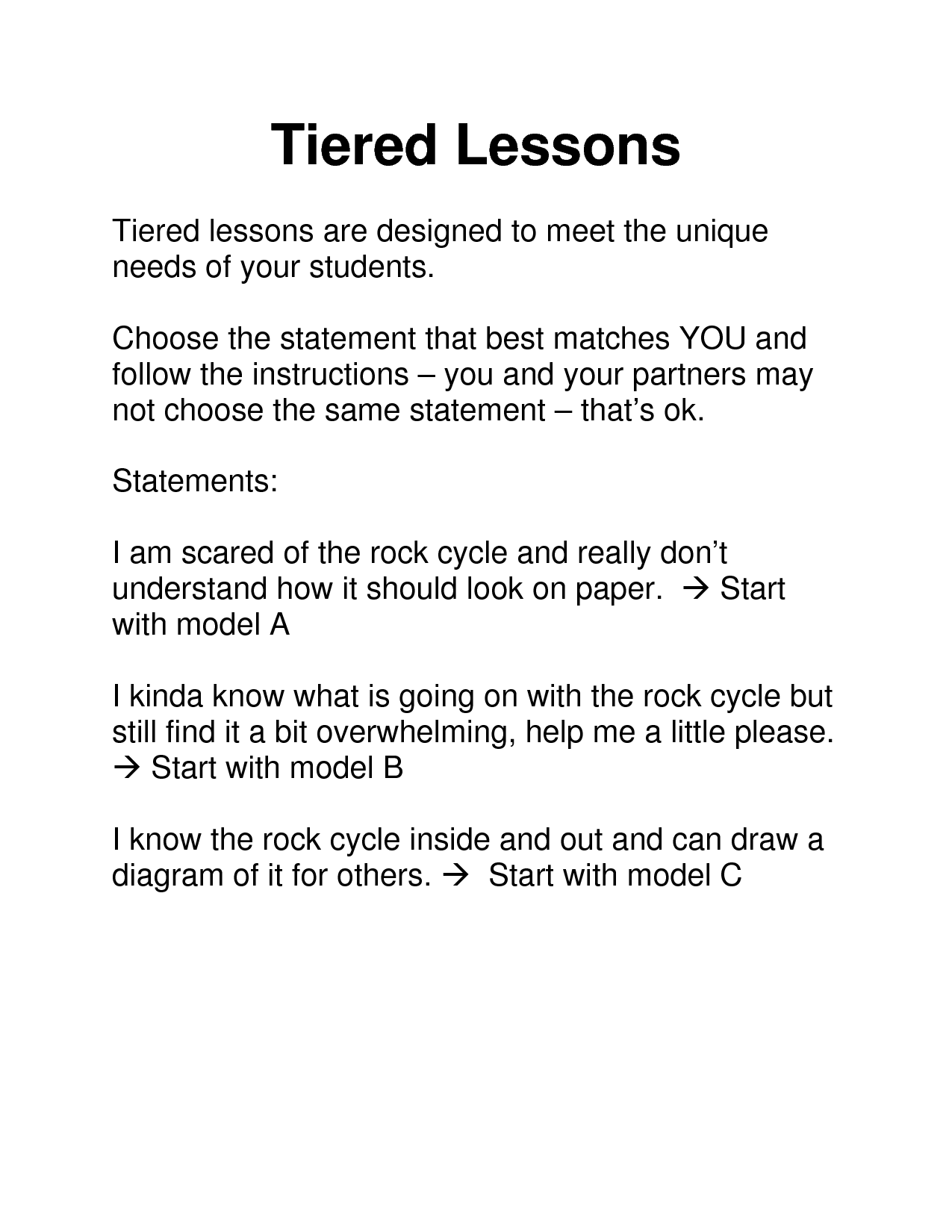 Tiered Instruction Tiered Lessons School Pinterest