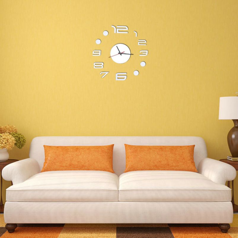 Large Digital Clock Wall Sticker Home Decoration For Living Room ...