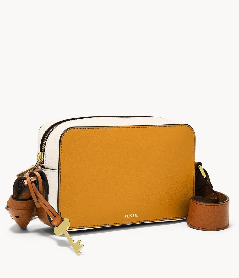 Fossil Women's Wiley Crossbody Yellow Source by fossiluk