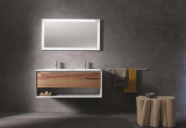 Salle de bains béton ciré  idées déco pour s\u0027inspirer - peinture beton cire mur