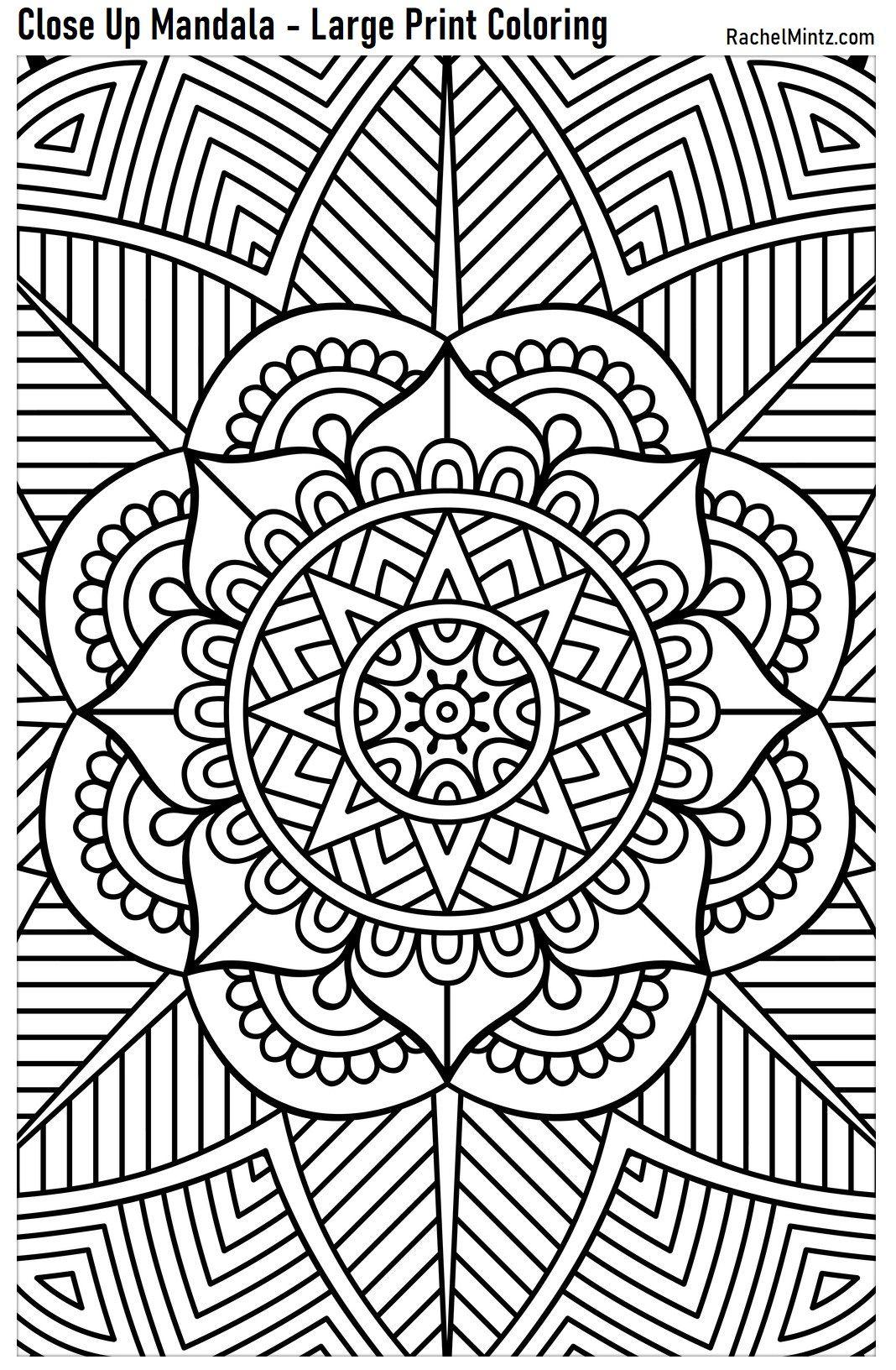 Large Print Mandala Designs Pattern Coloring Pages Mandala Coloring Pages Mandala Coloring Books