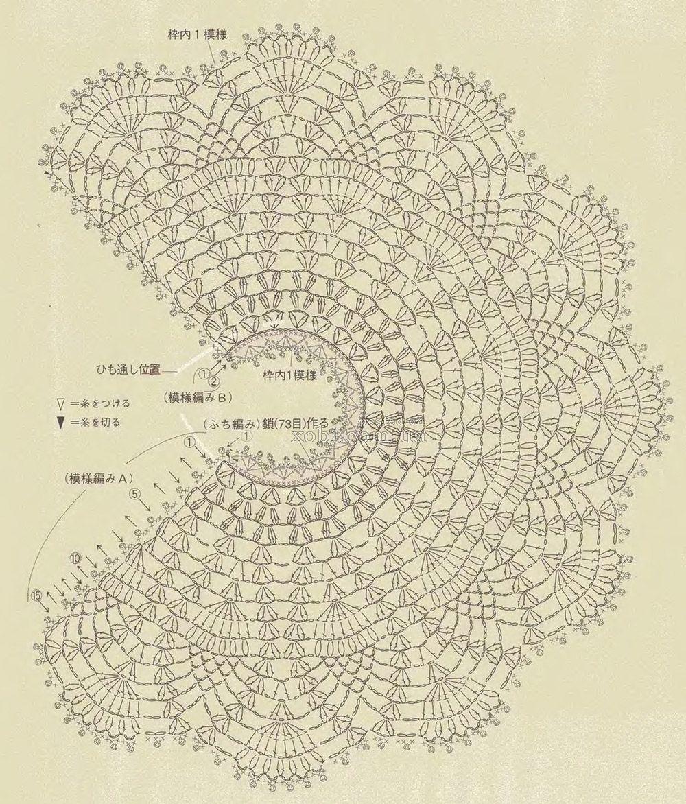 Схема красивой шали связанной крючком фото 648