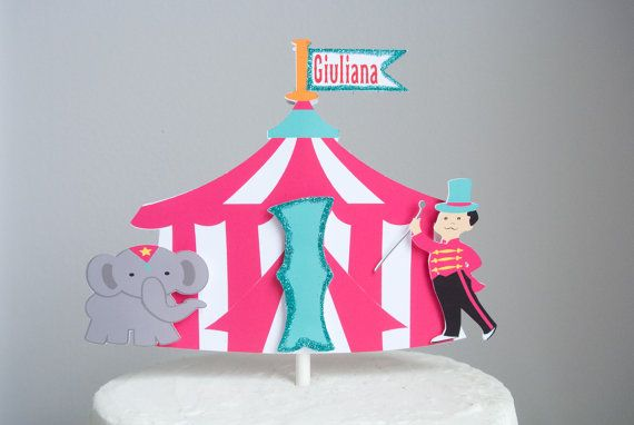 Hot Pink Circus Tent Cake Topper / Centerpiece by PinkPoppyPartyShoppe & Hot Pink Circus Tent Cake Topper / Centerpiece by ...