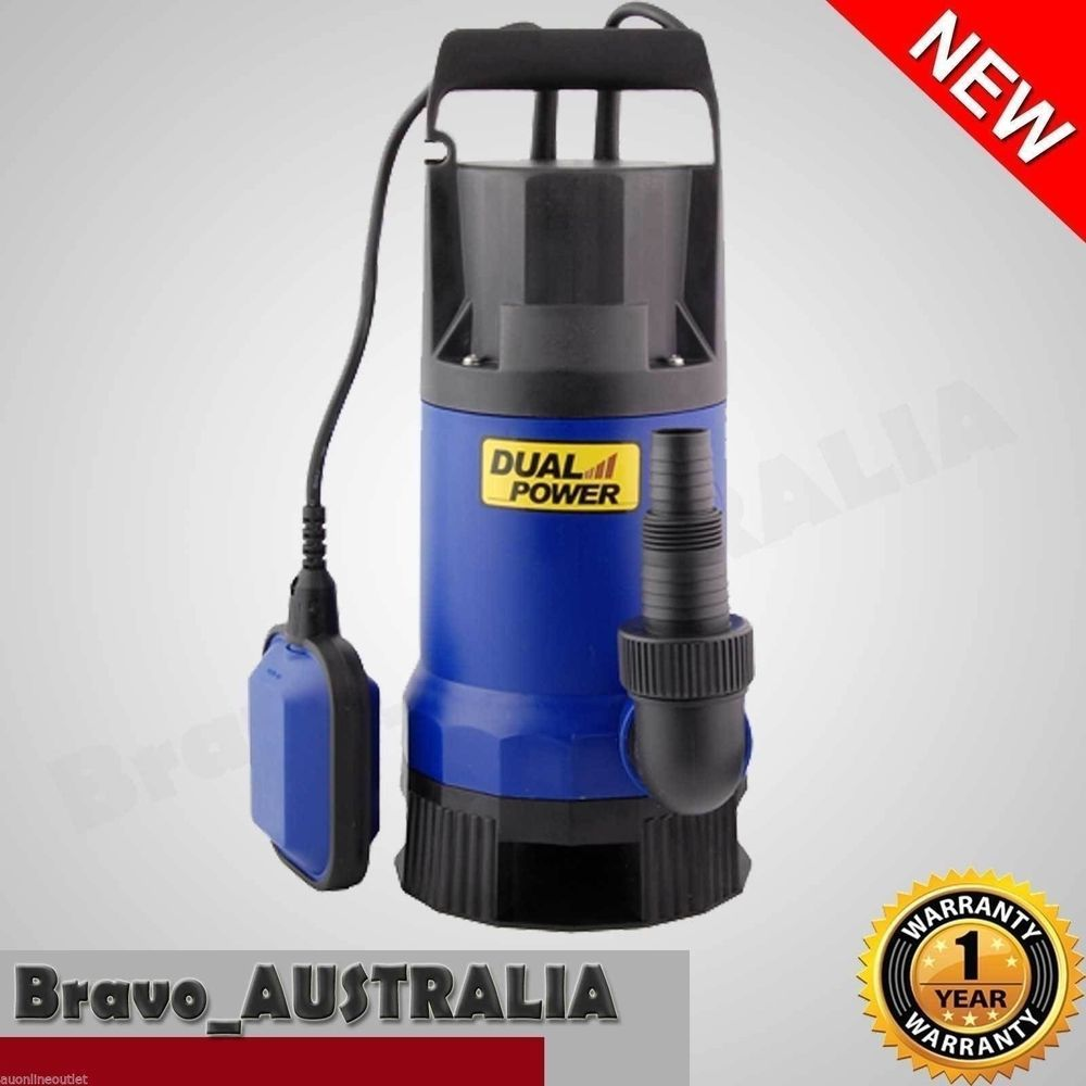 NEW 13000 L/H 750W Submersible Dirty Water Pump Garden Clean