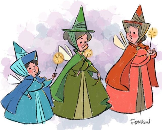 The Fairy Godmothers Sleeping Beauty Las Hadas Madrinas La
