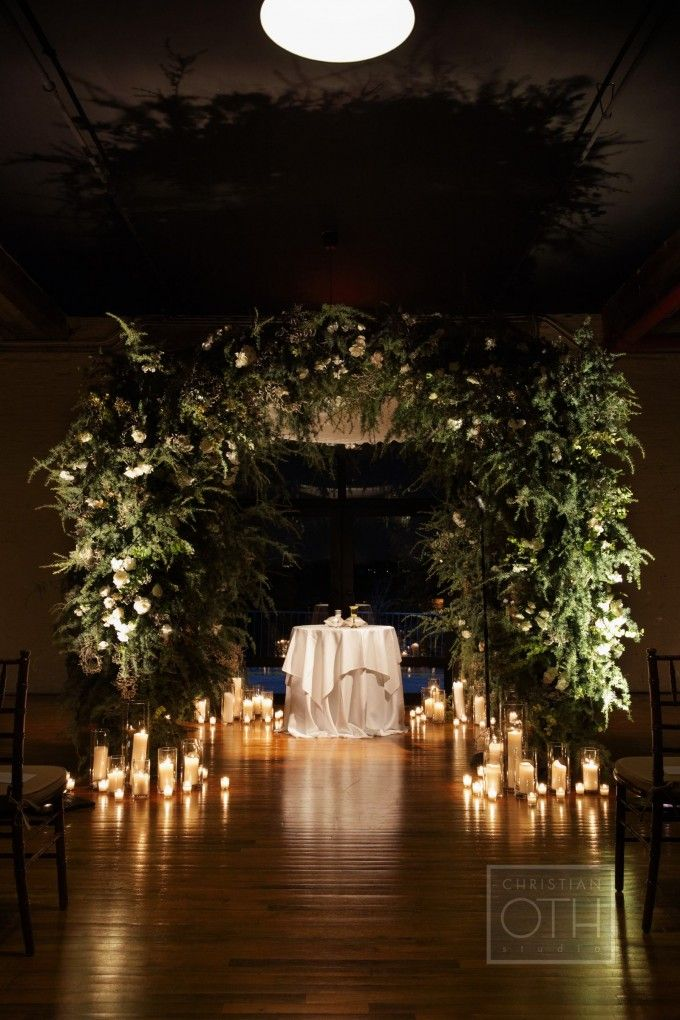 Poppies Posies Chuppah Flowers Wedding Ceremony Candles Decor Candle Lit Wedding