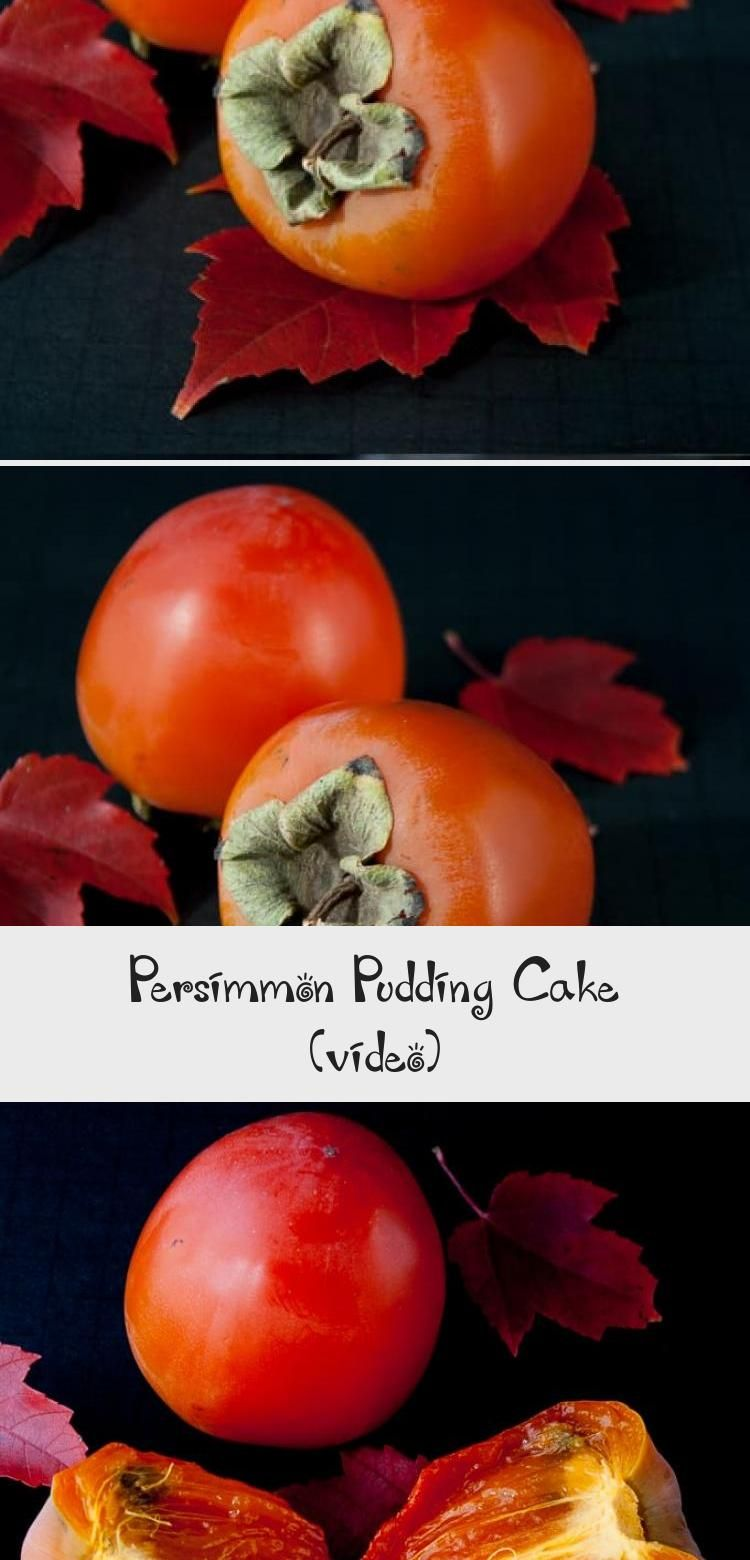 Photo of PERSIMMON PUDDING CAKE. A moist and chewy spiced pudding cake made from the deli…