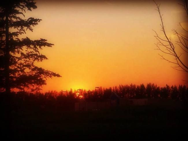 A photo I took of a sunset that was televised on The Weather Network. Taken with my iphone.