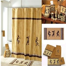 Kokopelli Southwestern Shower Curtain And Bath Accessories By Avanti
