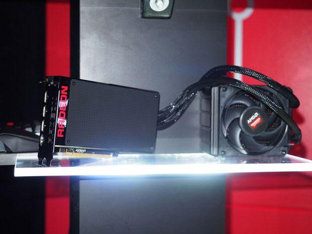 Amd Flaunts Fiji Ferocious Radeon R9 Fury X 6 Inch R9 Nano Project Quantum And Radeon 300 Series Amd Fiji Fury