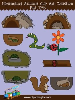 Hibernating Animals Clip Art Collection Part 2 Animals That Hibernate Winter Crafts For Toddlers Crafts