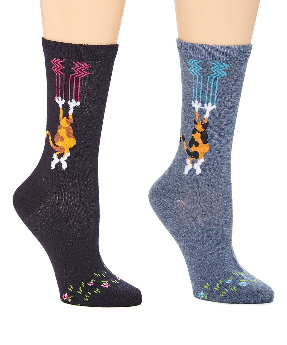 Take a look at this Black & Gray Cat Claw Marks Socks Set
